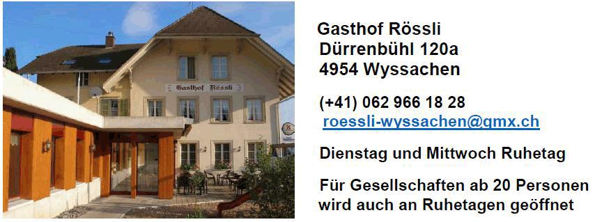 Gasthof Rössli - Wyssachen