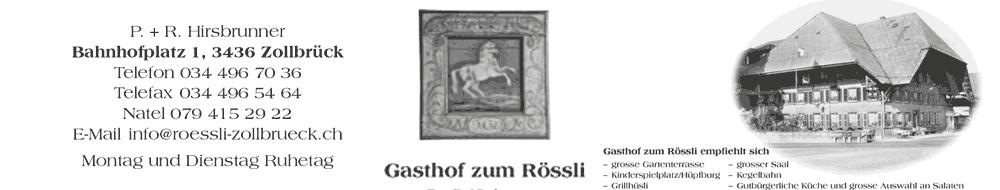 Gasthof zum Rössli, Zollbrück