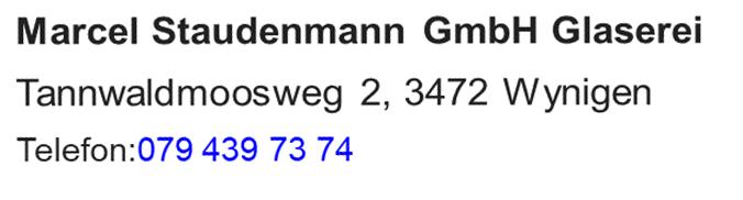 Marcel Staudemann GmbH Glaserei