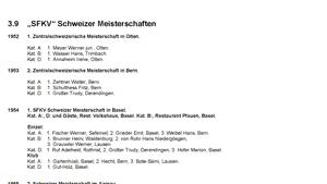 3.09 - Das goldene Buch der SFKV Schweizermeisterschaft